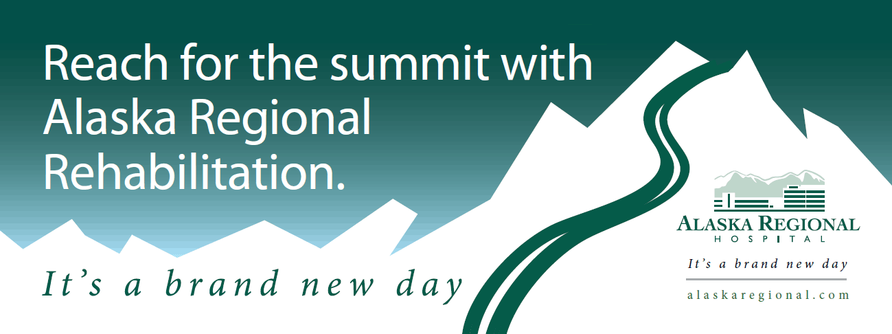 Reach for the summit with Alaska Regional Rehabilitation. It's a brand new day.
